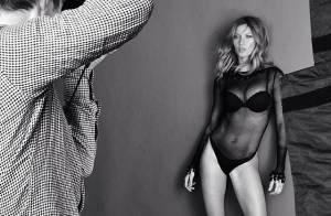Gisele Bündchen posa de lingerie em novo ensaio fotográfico