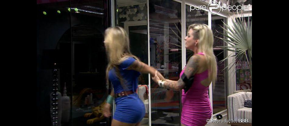 Vanessa e Clara brigam em noite de festa no 'BBB 14': 'Não gosto que me façam de idiota', diz modelo