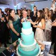 Renato Aragão se emocionou após dançar a valsa de 15 anos no aniversário de 15 anos de sua filha caçula, Lívian, na última sexta-feira, 14 de março de 2014