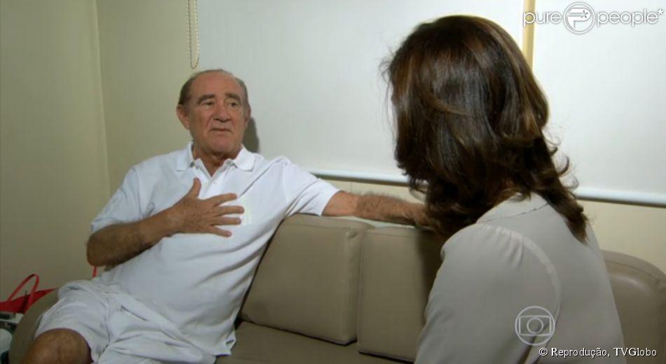 Renato Aragão comenta sobre o infarto que sofreu