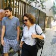 Eliane Giardini esteve no velório de José Wilker, no Rio de Janeiro