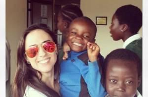 Tatá Werneck apadrinha uma criança em orfanato da África: 'Princesa linda'