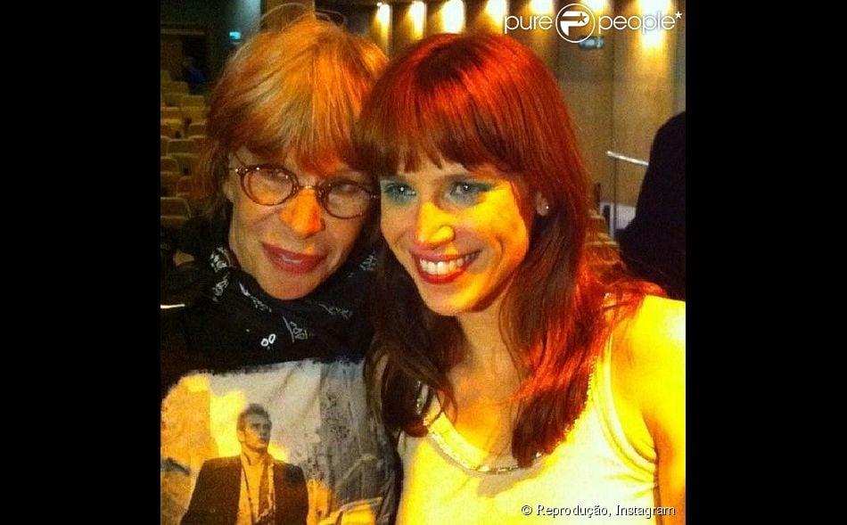 Mel Lisboa se emocionou com a visita supresa de Rita Lee