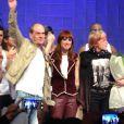 Mel Lisboa no palco com Rita Lee e Ney Matogrosso