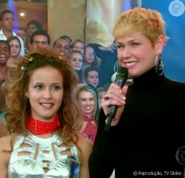 Convidada da tarde desta terça-feira, 15 de abril de 2014, do 'Vídeo Show', Fernanda de Freitas lembrou o início de sua carreira, como assistente de palco de Xuxa