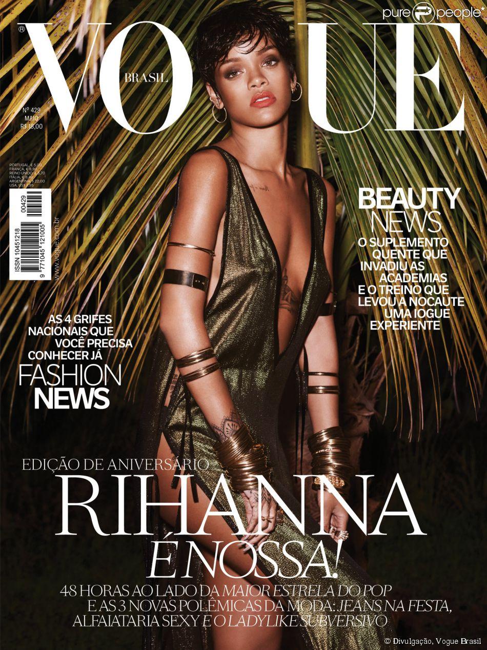 Rihanna ganha estampa duas capas em edição de aniversário de revista brasileira  25 de abril de 2014