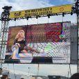 Christina Aguilera no  Festival New Jazz de Nova Orleans, nos Estados Unidos, neste fim de semana