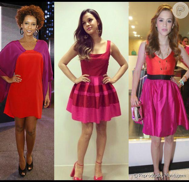 Taís Araújo, Bruna Marquezine e Sophia Abrahão já aderiram à mistura das  cores vermelho e pink. Outras famosas preferem usar os tons separados. Confira!