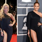 Adriane Galisteu repete em Cannes look usado por Jennifer Lopez no Grammy 2013