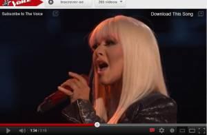 Christina Aguilera canta a música 'Just a fool' no programa 'The Voice'