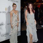 Cara Delevingne e Barbara Palvin usam mesmo vestido em Cannes 2014