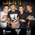 Neymar exibiu o desenho durante a balada que curtiu ao lado de amigos na quinta-feira, 22 de maio de 2014, em Santos, no litoral de São Paulo