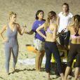 Carolina Dieckman se exercitou no final da tarde desta segunda-feira, 26 de maio de 2014, perto de sua casa, na praia de São Conrado, Zona Sul do Rio de Janeiro