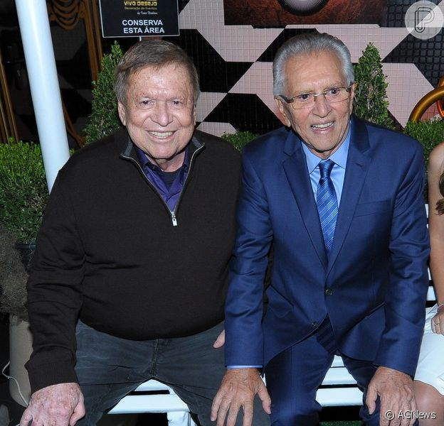 Boni prestigia festa de comemoração dos 60 anos de carreira de Carlos Alberto de Nóbrega, em 28 de maio de 2014