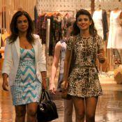 Com vestido curtinho, Paula Fernandes faz passeio em shopping do Rio de Janeiro
