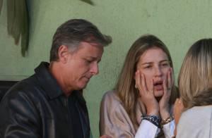 Luana Piovani e Marcelo Novaes almoçam juntos em restaurante no Rio