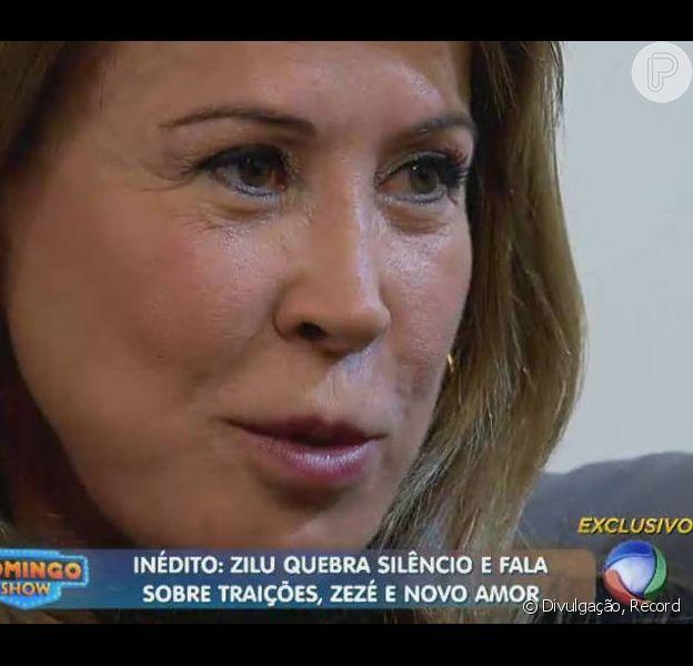 Zilu Camargo desabafa sobre separação de Zezé Di Camardo no programa 'Domingo Show', da Record, exibido neste domingo, 8 de junho de 2014