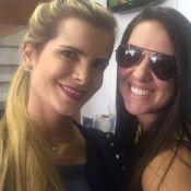 Graciele Lacerda, namorada de Zezé Di Camargo, posa ao lado da mulher de Luciano