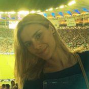 Carolina Dieckmann, Marcelo Adnet e famosos assistem a jogo da Copa no Maracanã
