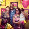 Fernanda Souza ganha festa surpresa do noivo, Thiaguinho; atriz completou 30 anos no dia 18 de junho de 2014