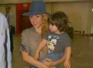 Shakira desembarca no Rio de Janeiro com o filho, Milan, para final da Copa