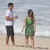 Bruno Gissoni e Polliana Aleixo trocam beijos durante gravação de 'Em Família'