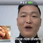 Sabrina Sato grava com Psy antes da chegada do rapper ao Carnaval de Salvador