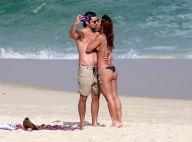 Beijos e carinhos: Yanna Lavigne curte praia com marido, Bruno Gissoni. Fotos!
