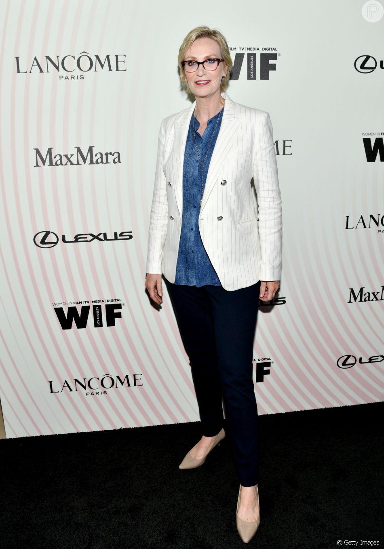 Jane Lynch no Women In Film 2018 Crystal + Lucy Awards, promovido por Max Mara, Lancôme e Lexus no The Beverly Hilton Hotel, em Beverly Hills, na Califórnia, nesta quarta-feira, 13 de junho de 2018