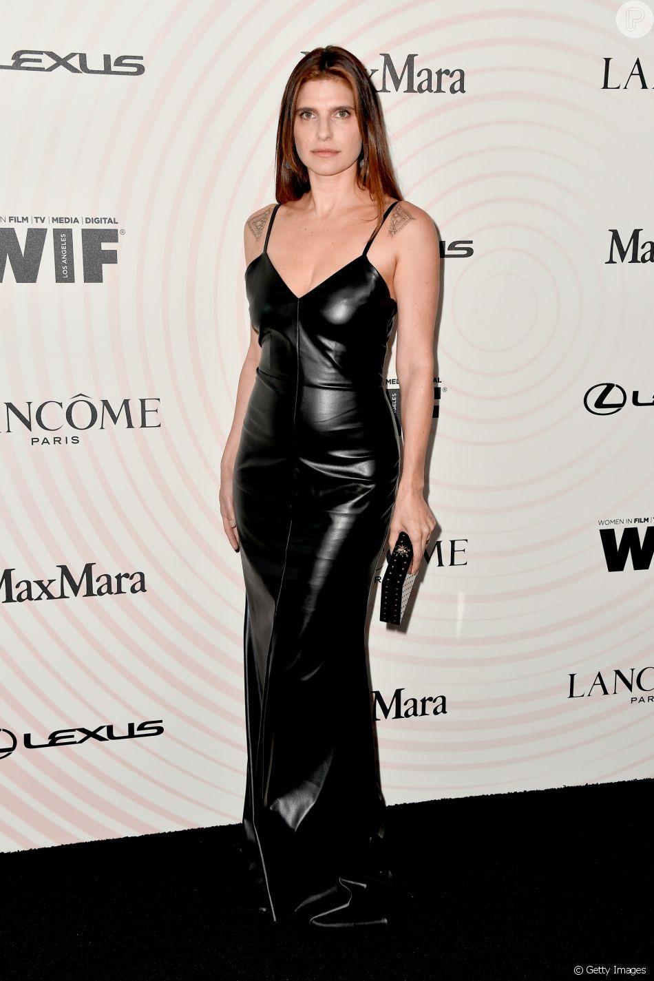 A atriz Lake Bell no Women In Film 2018 Crystal + Lucy Awards, promovido por Max Mara, Lancôme e Lexus no The Beverly Hilton Hotel, em Beverly Hills, na Califórnia, nesta quarta-feira, 13 de junho de 2018