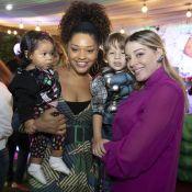 Com Yolanda, Juliana Alves prestigia festa do filho de Luma Costa, Antônio.Veja!