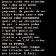 Thyane Dantas se manifestou no Instagram e explicou que Wesley Safadão não deseja reduzir a pensão do filho,  Yhudy, de 7 anos