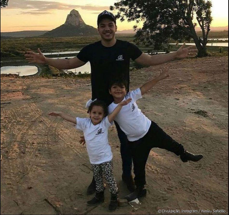 Wesley Safadão é pai da pequena Ysis, de 3 anos, e Yudhi, de 7