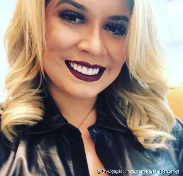Marília Mendonça volta a usar lingerie à mostra em look e é elogiada nesta terça-feira, dia 19 de junho de 2018