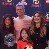 Flávia Alessandra e filha Giulia Costa exibem novos visuais em pré-estreia