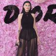 Amalie Gassmann prestigiou o desfile da coleção primavera/verão 2019 masculina da Dior, durante a Paris Fashion Week, neste sábado, 23 de junho de 2018