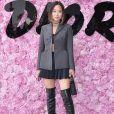 Aimee Song prestigiou o desfile da coleção primavera/verão 2019 masculina da Dior, durante a Paris Fashion Week, neste sábado, 23 de junho de 2018