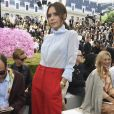 Victoria Beckham prestigiou o desfile da coleção primavera/verão 2019 masculina da Dior, durante a Paris Fashion Week, neste sábado, 23 de junho de 2018