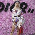 Rita Ora prestigiou o desfile da coleção primavera/verão 2019 masculina da Dior, durante a Paris Fashion Week, neste sábado, 23 de junho de 2018