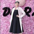Gwendoline Christie prestigiou o desfile da coleção primavera/verão 2019 masculina da Dior, durante a Paris Fashion Week, neste sábado, 23 de junho de 2018
