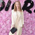 Josephine de la Baume prestigiou o desfile da coleção primavera/verão 2019 masculina da Dior, durante a Paris Fashion Week, neste sábado, 23 de junho de 2018