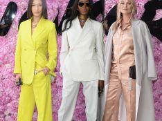 Bella Hadid, Naomi Campbell e Kate Moss apostam em conjunto para desfile da Dior