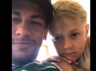 Neymar encontra o filho, Davi Lucca, após jogo do Brasil na Rússia. Vídeo!