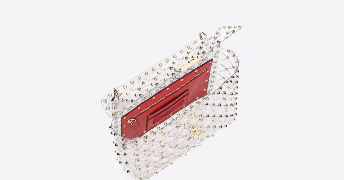1dd5c5bc5dd52 Bolsa Valentino de PVC transparente é acolchoada - Purepeople