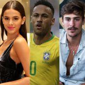 Bruno Montaleone e Marquezine apoiam Neymar antes de jogo: 'Vamos, cara'
