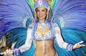 Thalía faz montagem com foto de Renata Santos e diz que vem para Carnaval no Rio
