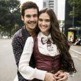 Juliana Paiva e Nicolas Prattes são par romântico na novela 'O Tempo Não Para', trama sucessora de 'Deus Salve o Rei'