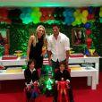 Recentemente, Hulk e a mulher, Iran, festejaram o aniversário dos dois filhos, Ian e Tiago