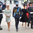 William e Kate Middleton, que batizaram o caçula Príncipe Louis no dia anterior, também compareceram
