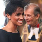 Meghan Markle veste pretinho Dior com decote canoa em evento real